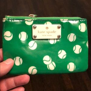 Kate Spade Tennis Ball Zippered Pouch